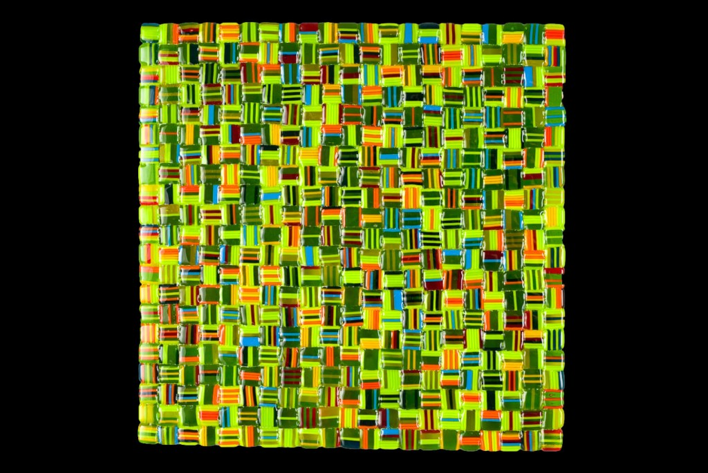 """Summer Salsa Mix (Green) – 12""""w x 12""""h"""