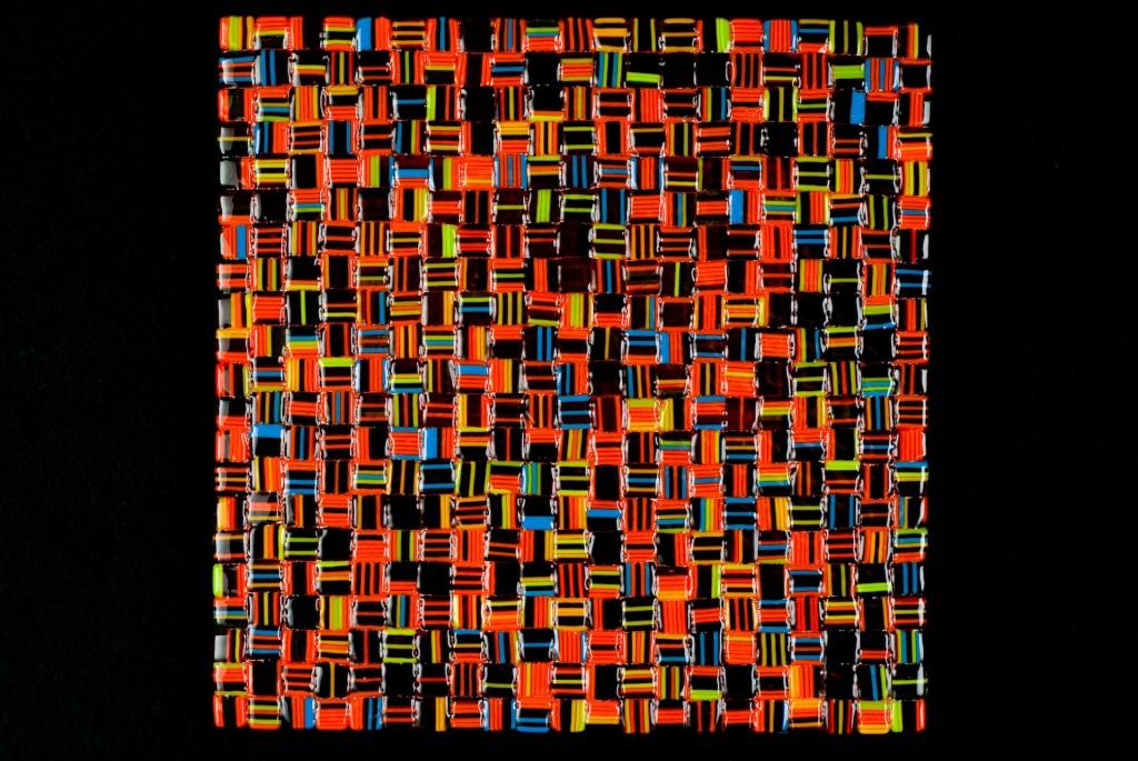 """Summer Salsa Mix (Orange) – 12""""w x 12""""h"""