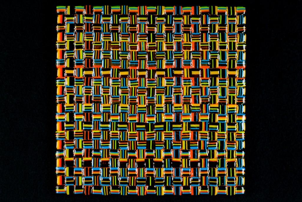 "Summer Salsa Weave (All) – 12""w x 12""h"